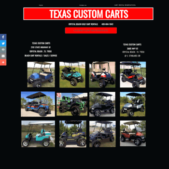 Texascustomcarts.com thumbnail