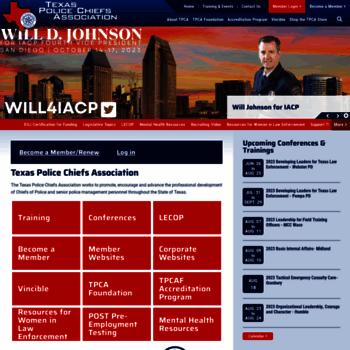 Texaspolicechiefs.org thumbnail
