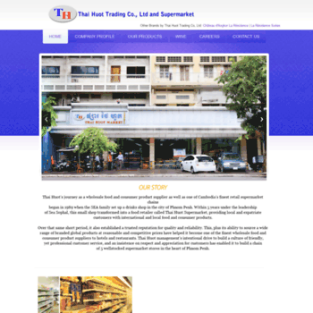 thaihuot com at WI  Home - Thai Huot Trading Co, Ltd