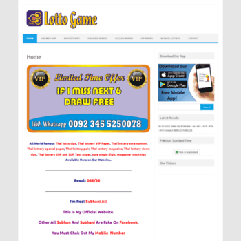 thailottogame com at WI  Thai Lotto Game – World's Top