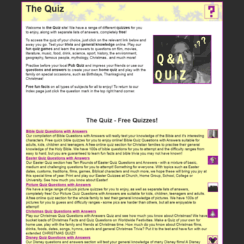 the-quiz com at WI  THE QUIZ | Questions with Answers - Play Fun