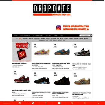 at WI. The Drop Date UK Trainer Release  UK Trainer Release