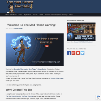 themadhermitgaming com at WI  The Mad Hermit Gaming