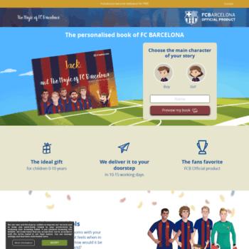 add3ad9bc Themagicoffcbarcelona.com thumbnail. The magic of FC Barcelona - The  personalised book ...