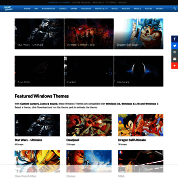 themeraider com at WI  1000+ Windows 10, 8 & 7 Themes Gallery