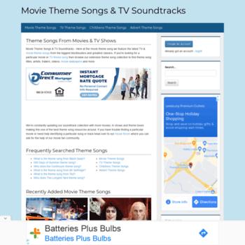 themoviethemesong com at WI  Movie Theme Songs & TV Soundtracks