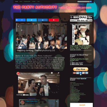 Thepartyauthority.us thumbnail