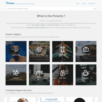 thepicta com at WI  Pictame | Instagram Analyzer and Online