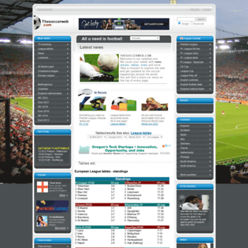 thesoccerweb com at WI  thesoccerweb - football- soccer - stats