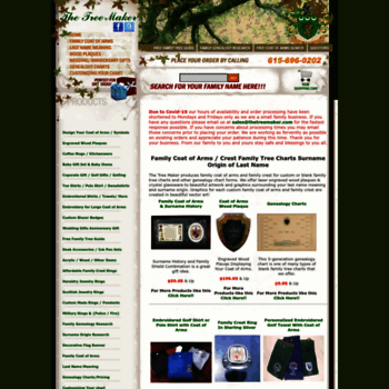 thetreemaker com at WI  Family Coat of Arms / Crest on
