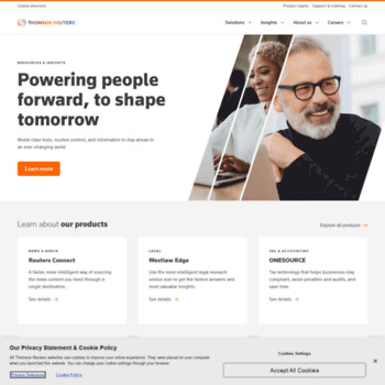 thomsonreuters com at WI  Home | Thomson Reuters
