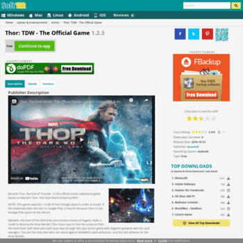 Thor-tdw-the-official-game.soft112.com thumbnail