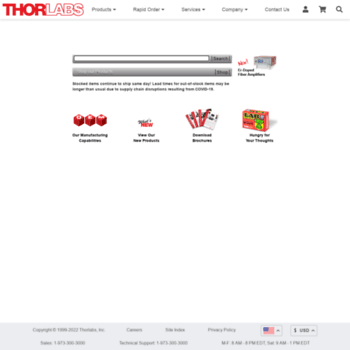 thorlabs de at WI  Thorlabs, Inc  - Your Source for Fiber Optics