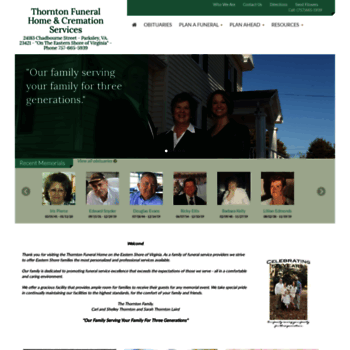 Thorntonfuneralhome.net thumbnail