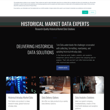 tickdata com at WI  Tick Data: Historical Forex, Options, Stock