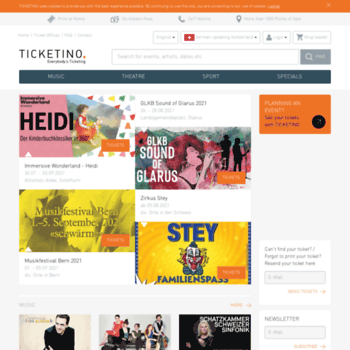 Ticketino Ch At Wi Buy Tickets For Events Concerts