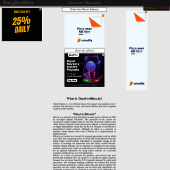 timeforbitco in at WI  Time for Bitco - Get free Satoshi