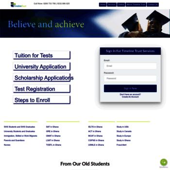 timelinetrust com at WI  Ghana, SAT, TOEFL, GRE, GMAT Lessons