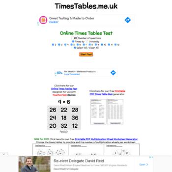 Timestables.me.uk thumbnail