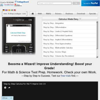 tinspireapps com at WI  Step by Step Apps for the TI-Nspire CX & CX