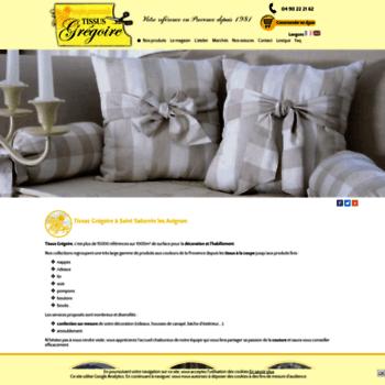 Tissus-gregoire-vaucluse.fr thumbnail