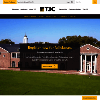Tjc.edu thumbnail