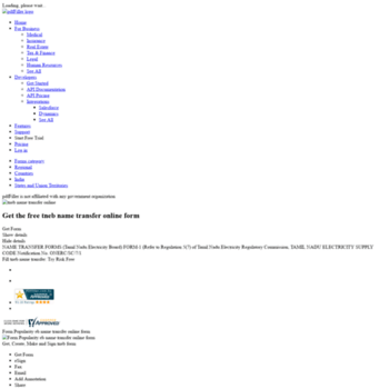 Tneb-name-transfer-application-form.pdffiller.com thumbnail