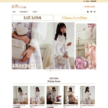 8eb0cb4882dc8 Tokyokawaiilife.jp thumbnail. Daily visitors: 178. Daily pageviews: 1 068.  Alexa Rank: 388313. LIZ LISA(リズリサ)公式通販 ガーリーファッション ...