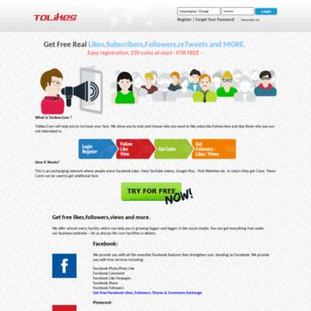 tolikes com at WI  Tolikes Get FREE Instagram Likes,Facebook Like