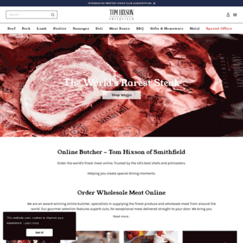 tomhixson co uk at WI  Online Wholesale Butchers & Meat Delivery UK
