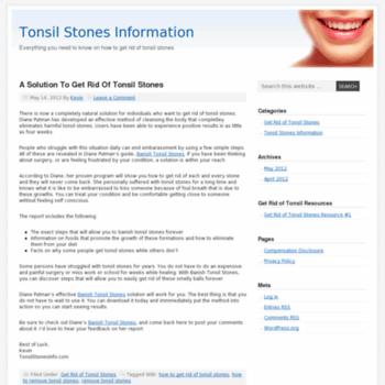 Tonsilstonesinfo.net thumbnail
