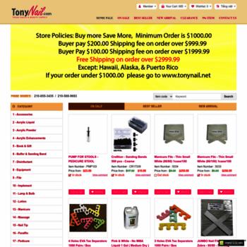 tonynail.com at WI. Nail Supplies, Texas Discount Nails & Beauty Supply