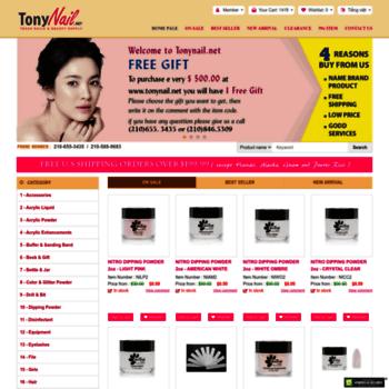 tonynail.net at WI. Nail Supplies, Texas Discount Nails & Beauty Supply