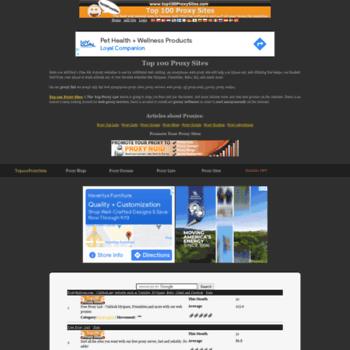 Top100proxysites.com thumbnail
