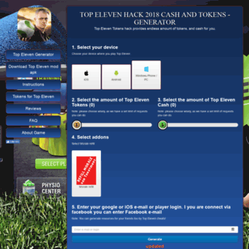 topeleven2016 xyz at WI  Top Eleven hack 2018 online