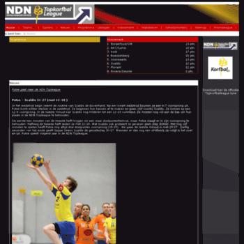 Topkorfballeague.be thumbnail