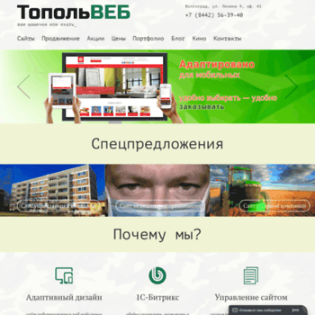 Веб сайт topolweb.ru