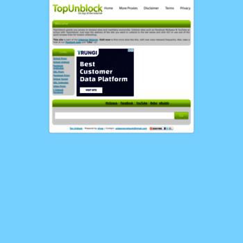 topunblock com at WI  Top Unblock   Unblock Facebook YouTube