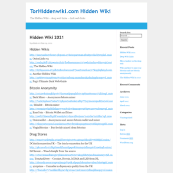 torhiddenwiki com at WI  TorHiddenwiki com Hidden Wiki – The Hidden