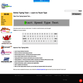 touchtype co at WI  Learn How To Type | Touch Typing Lessons, Tutor