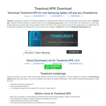 towelroot org at WI  Download Towelroot apk for root Samsung