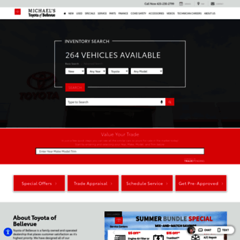 Michaels Toyota Service >> Toyotaofbellevue Com At Wi Michael S Toyota Of Bellevue