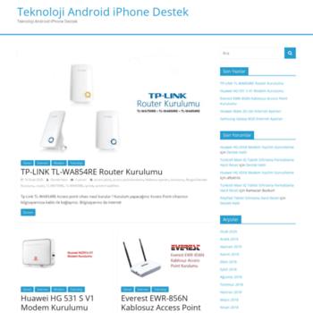 tr-destek com at WI  Teknoloji Android iPhone Destek