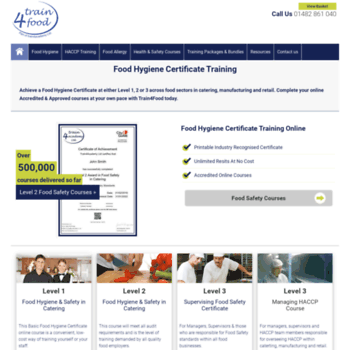 Train4foodcouk At Wi Food Hygiene Certificate Food