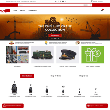 trainzauctions com at WI  Everything Model Trains - Trainz Auctions