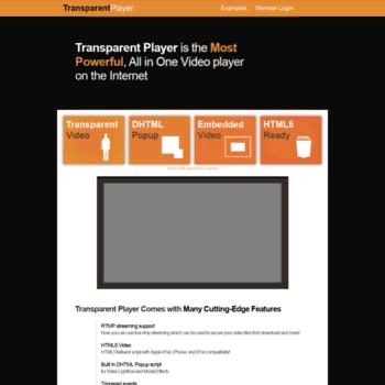 transparentplayer com at WI  Transparent Video Player - h 264 Flash