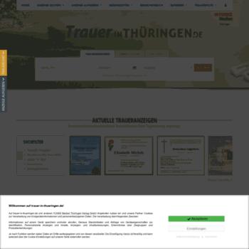 Thüringer allgemeine traueranzeigen