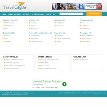 Travelcitydir.com thumbnail