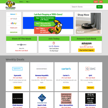 c1471c59625 travis.com at WI. Mr. Rebates - Cash Back Rebate Shopping at over ...