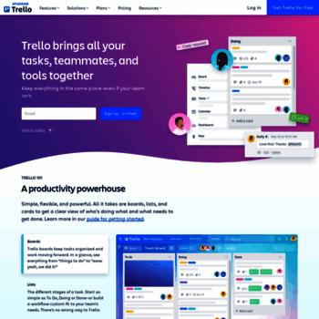 Веб сайт trello.com
